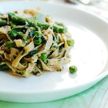 fresh pasta tossed with greens