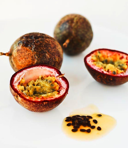 cut passionfruit