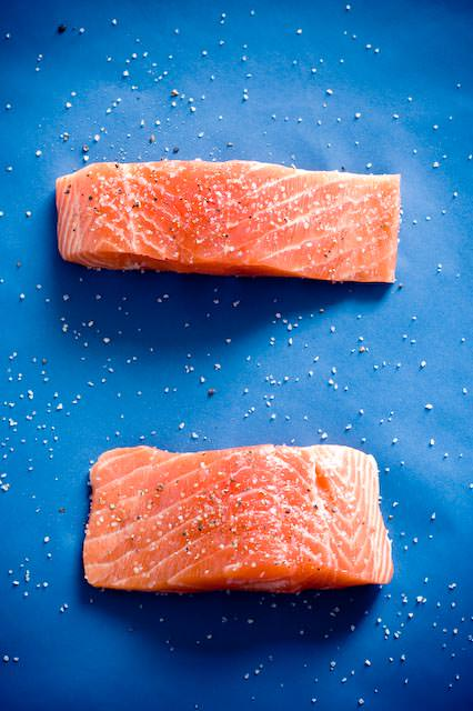 fresh seasoned salmon
