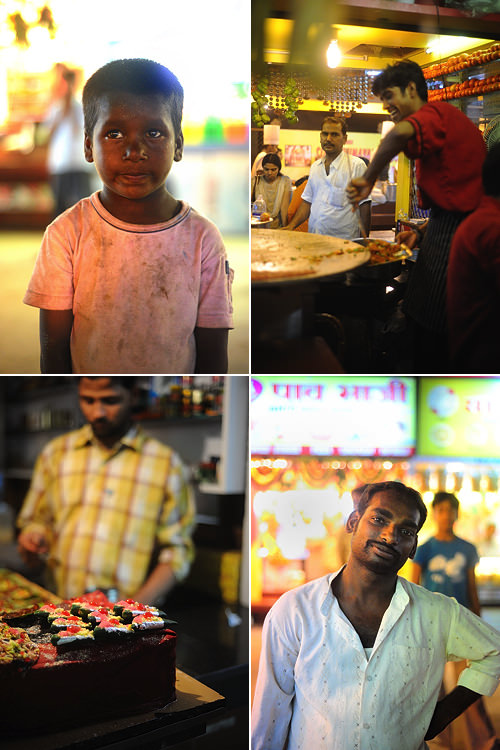 Juhu Beach market stalls and people