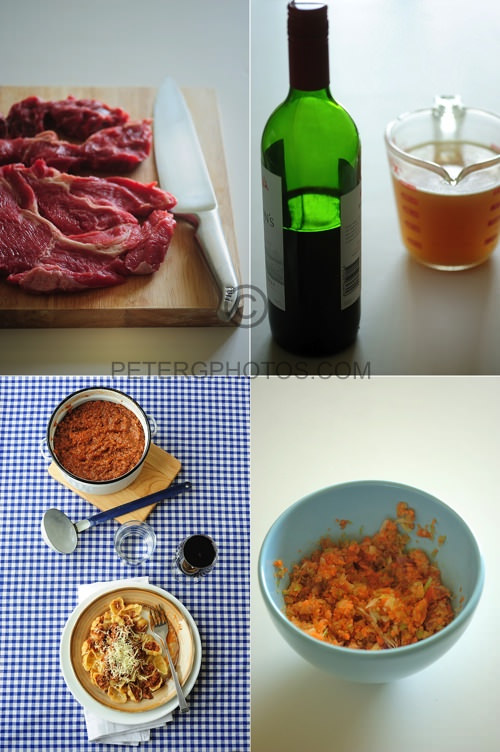 ingredients for beef ragu