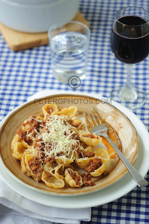 pasta shells with a beef ragu