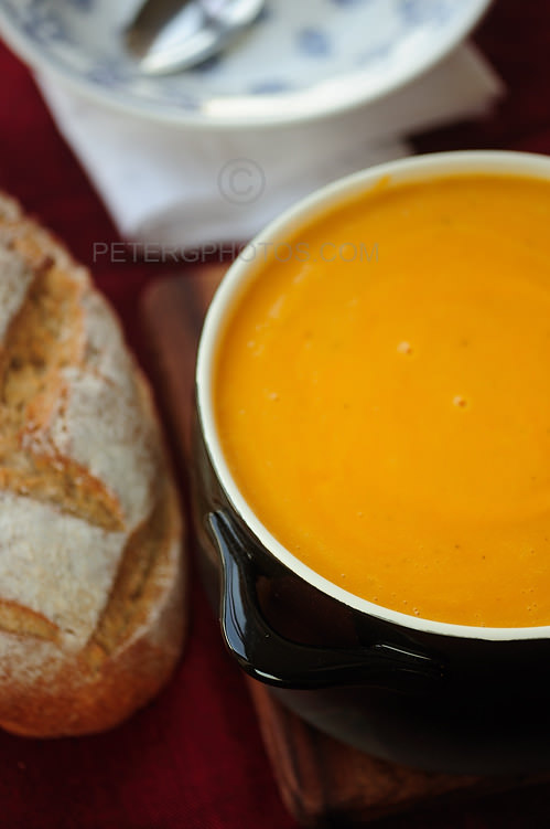 pumpkin soup with lentils
