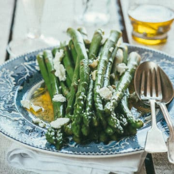 asparagus with feta cheese