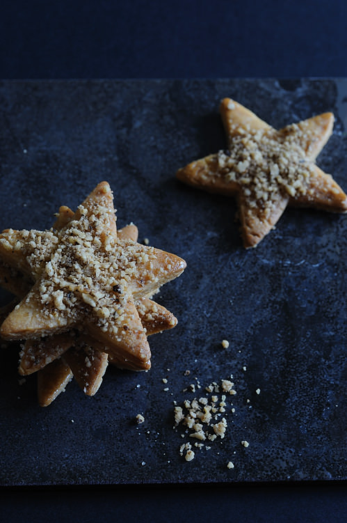 Greek honey walnut star cookies