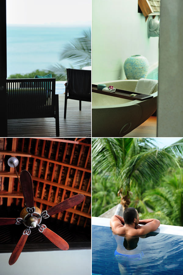 rooms and villas at four seasons resort Koh samui