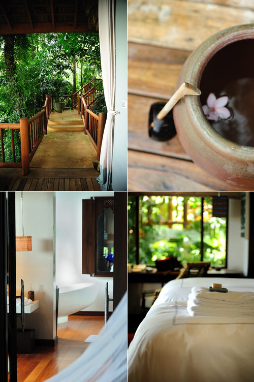 rooms and private villas at Four Seasons resort Koh Samui