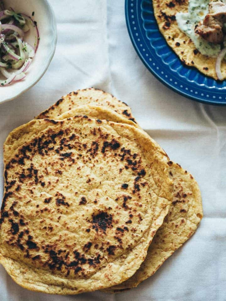 flatbreads made with chickpeas
