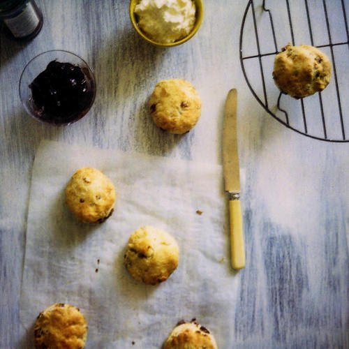 lemon and date scones afternoon tea