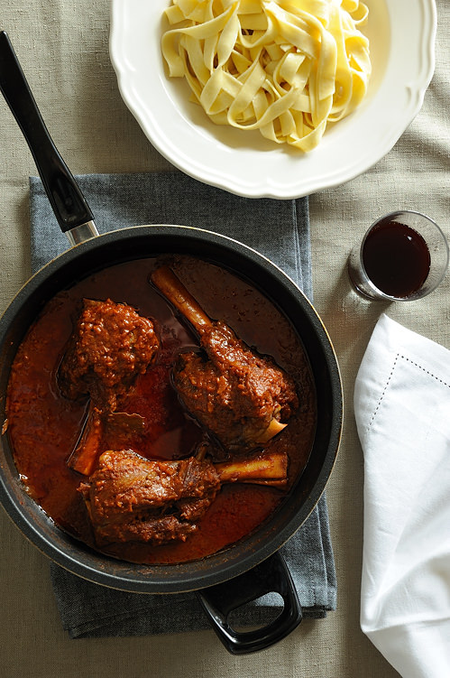 braised lamb shanks cooked in Bessemer