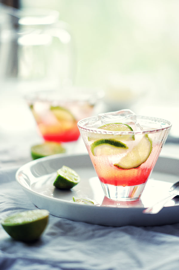 vodka and lime cocktail