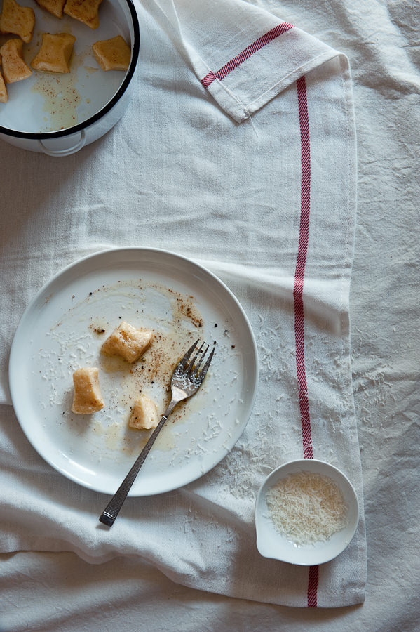 ricotta gnocchi with a burnt butter sauce