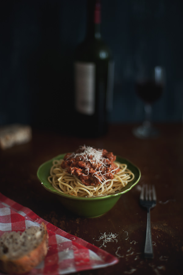 spaghetti with a lamb ragu