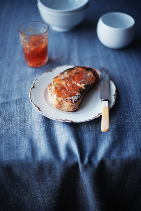 blood lime marmalade on toast