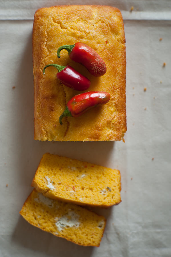 cornbread with jalapeno and feta