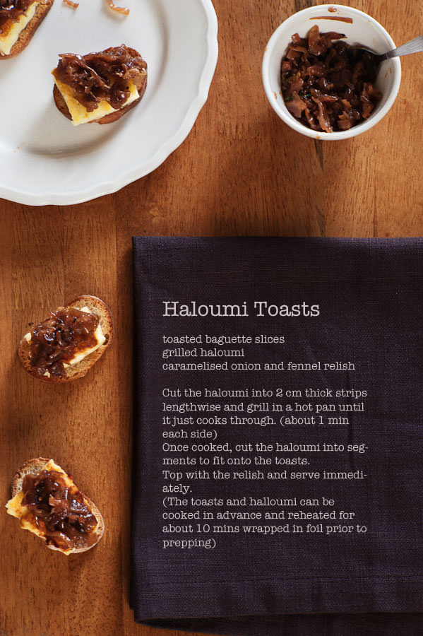 haloumi toasts canapes