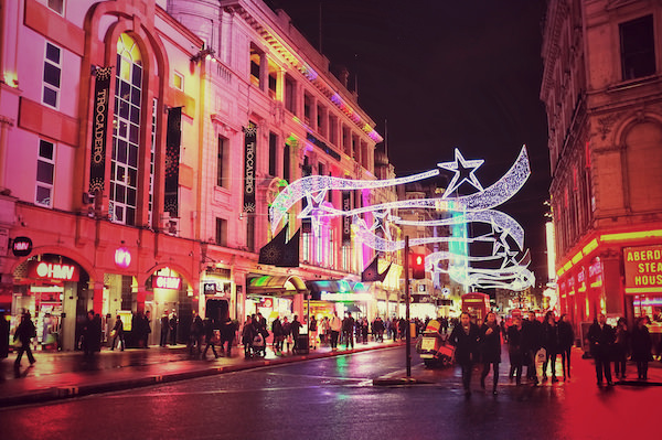 Xmas lights Regent St London