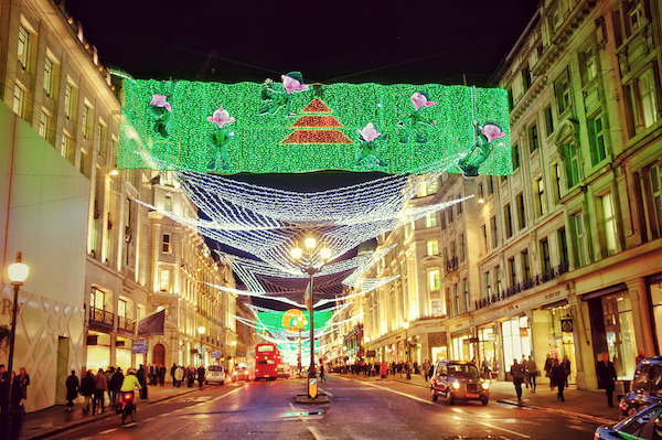 Xmas Lights 2011 London Regent St