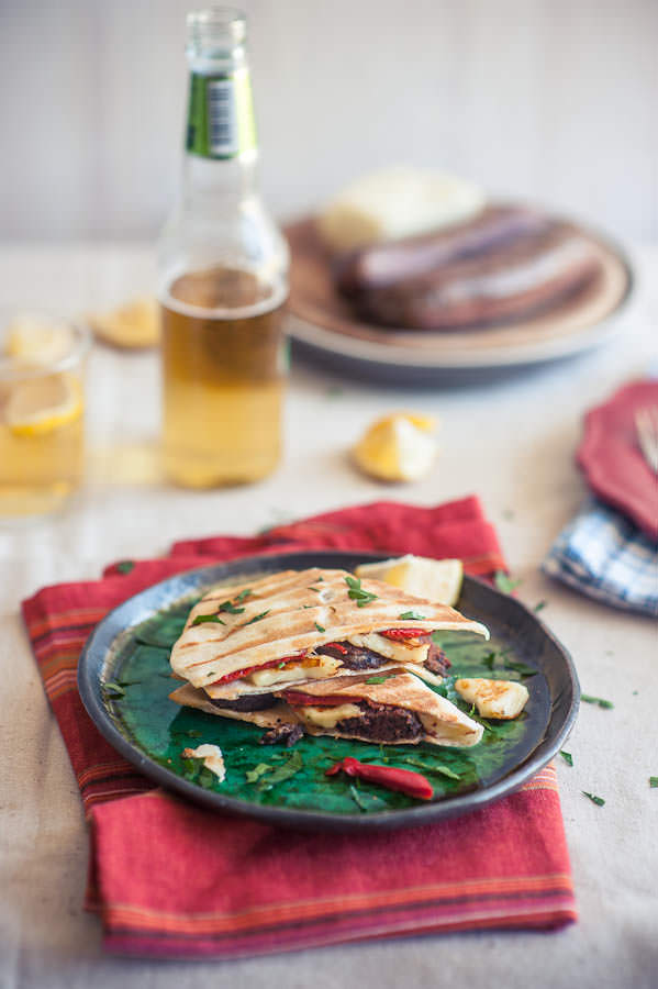 Loukaniko and Haloumi Quesadillas
