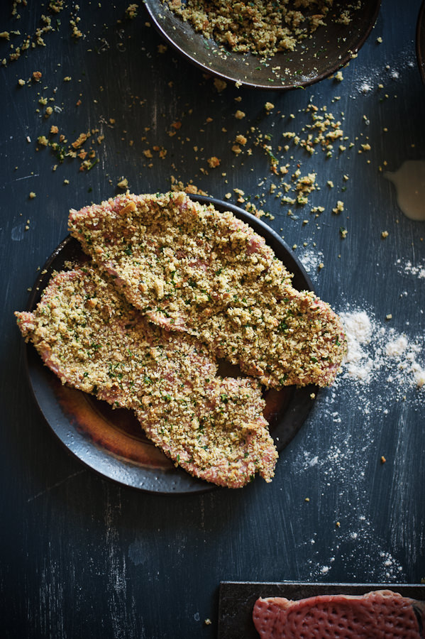 veal schnitzel with herbed breadcrumbs