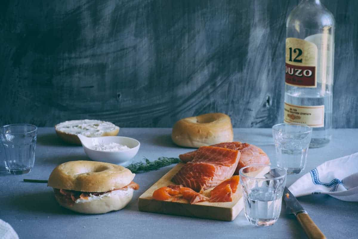 ouzo cured salmon