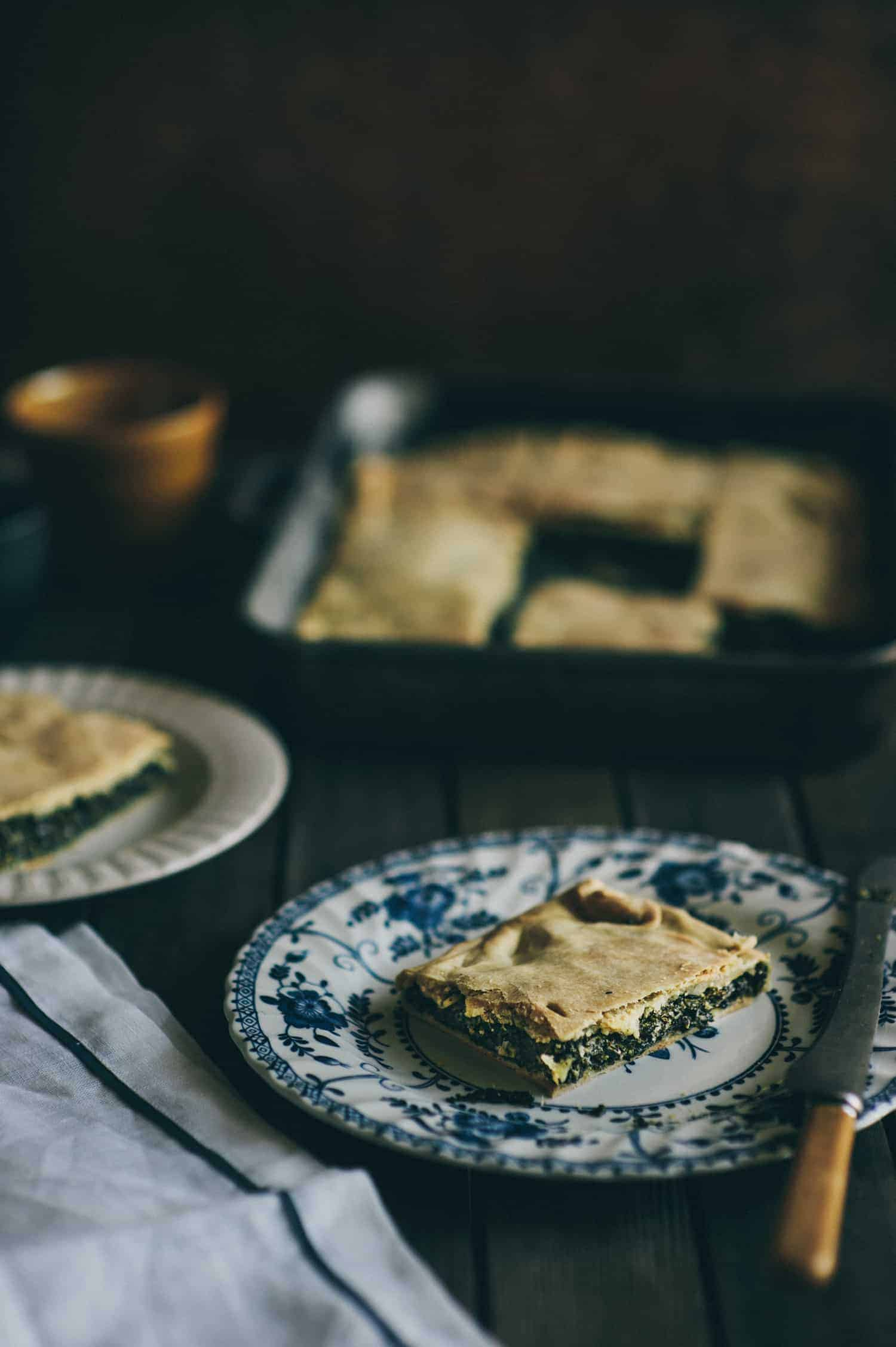 hortopita Greek style wild greens pie