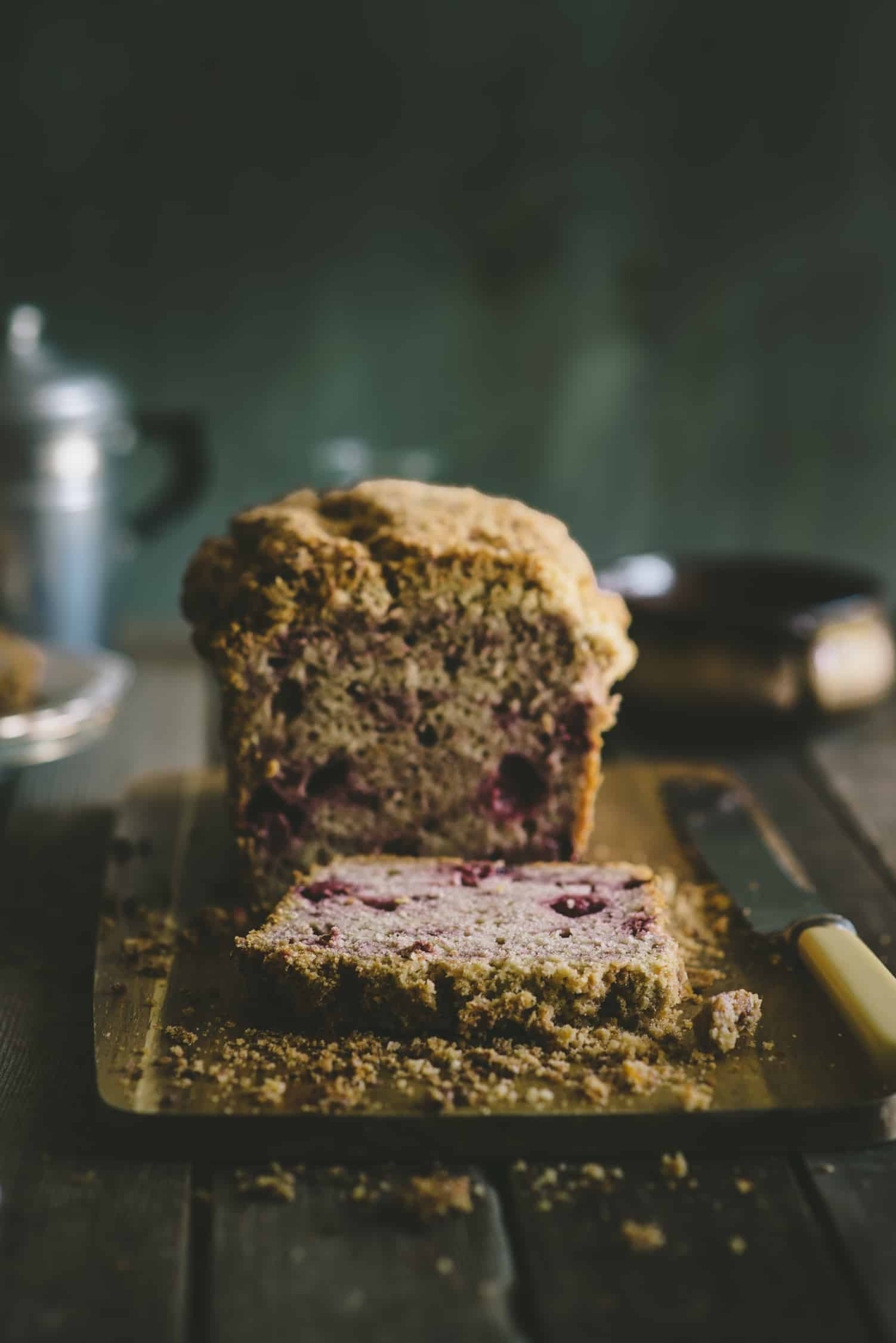 raspberry muffin bread