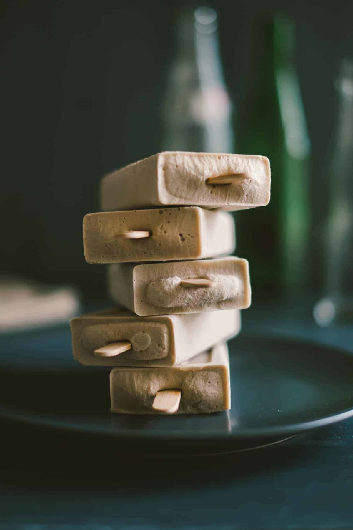 banana and cashew cream ice pops