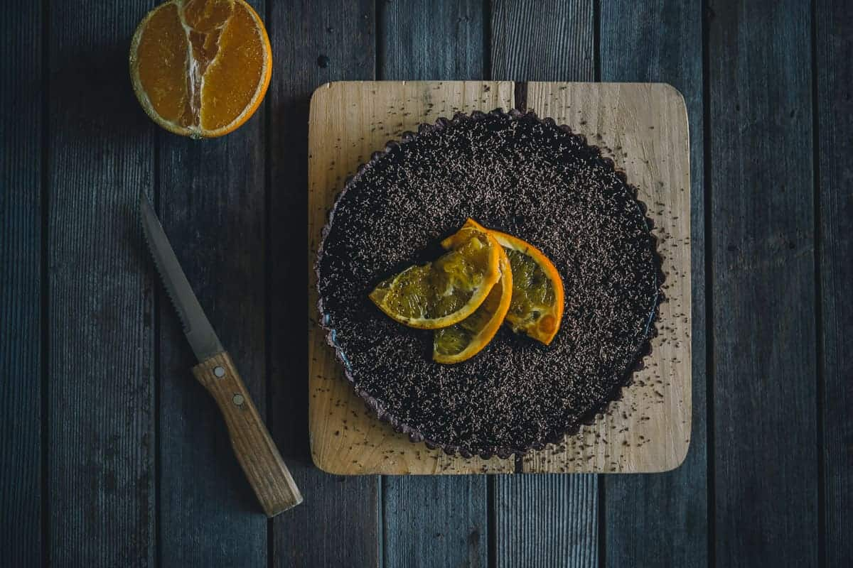 chocolate and orange tart