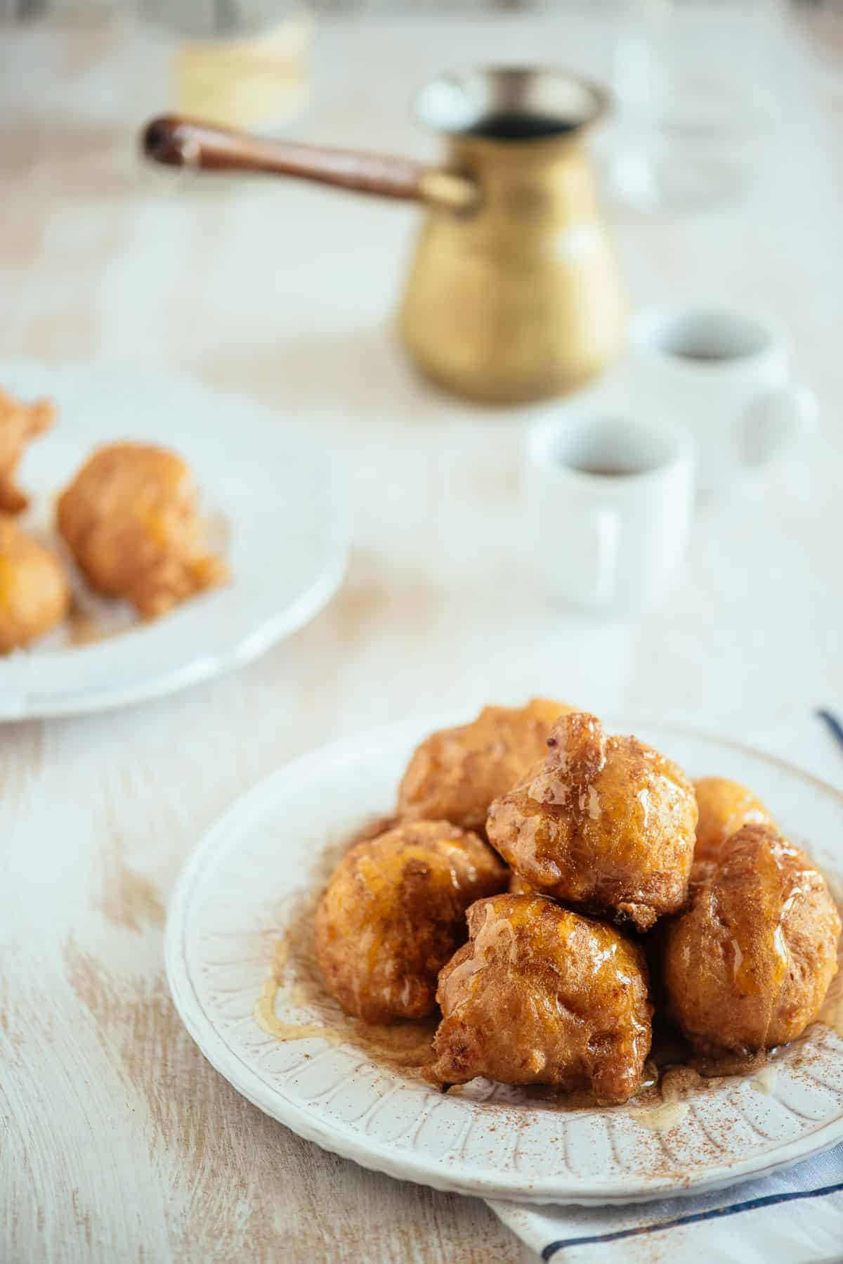 sweet potato loukoumades