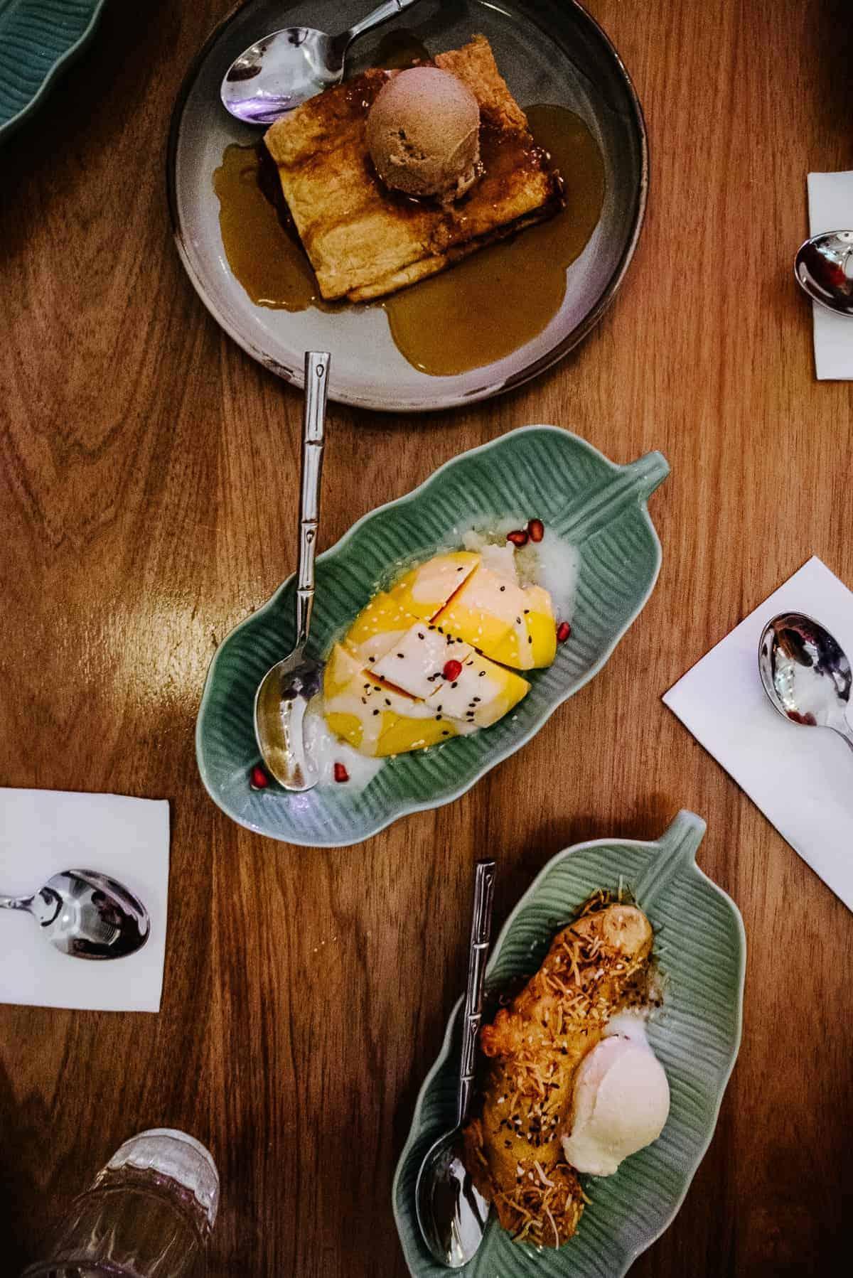 mango dessert served at Thai restaurant