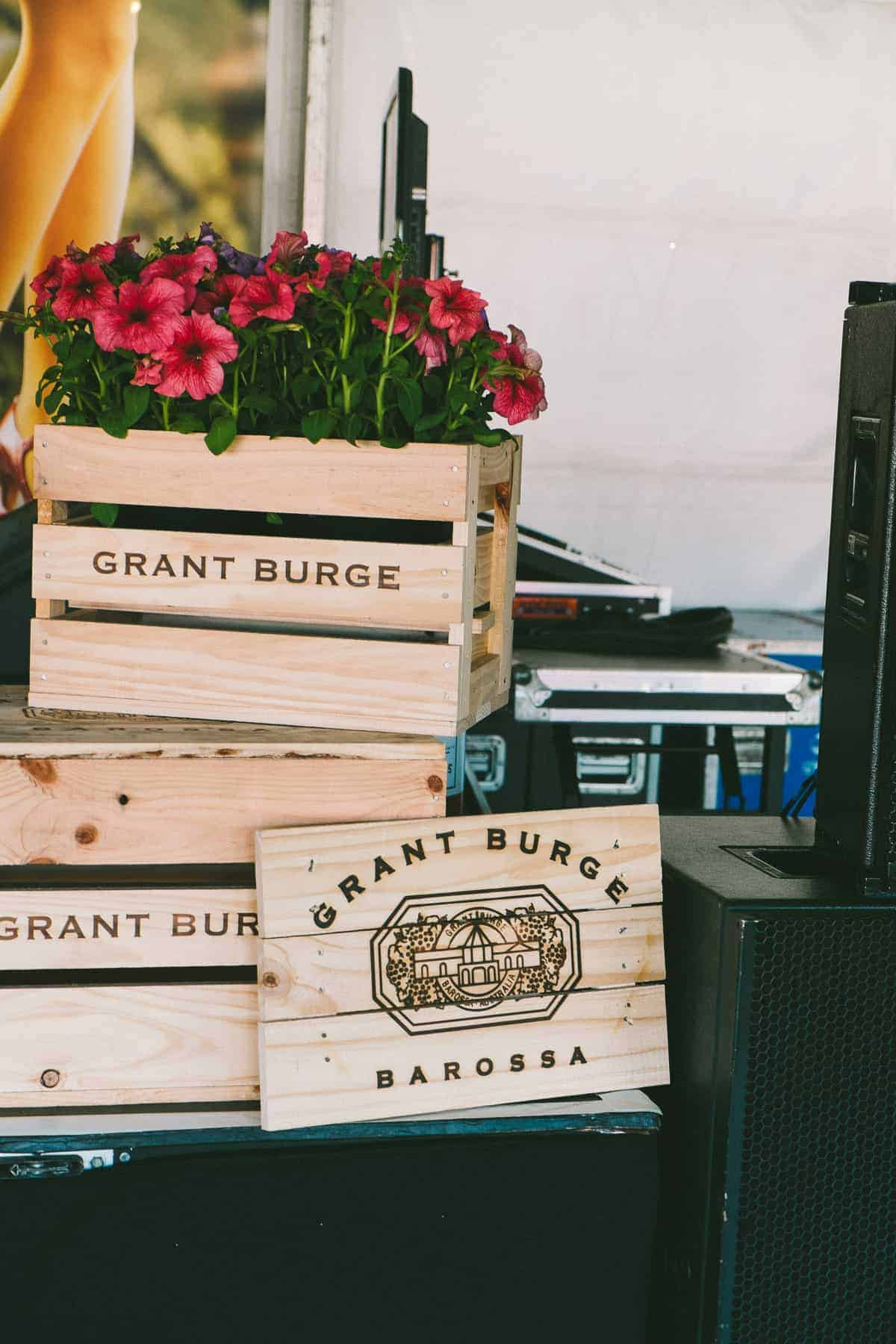 Grant Burge champagne crates