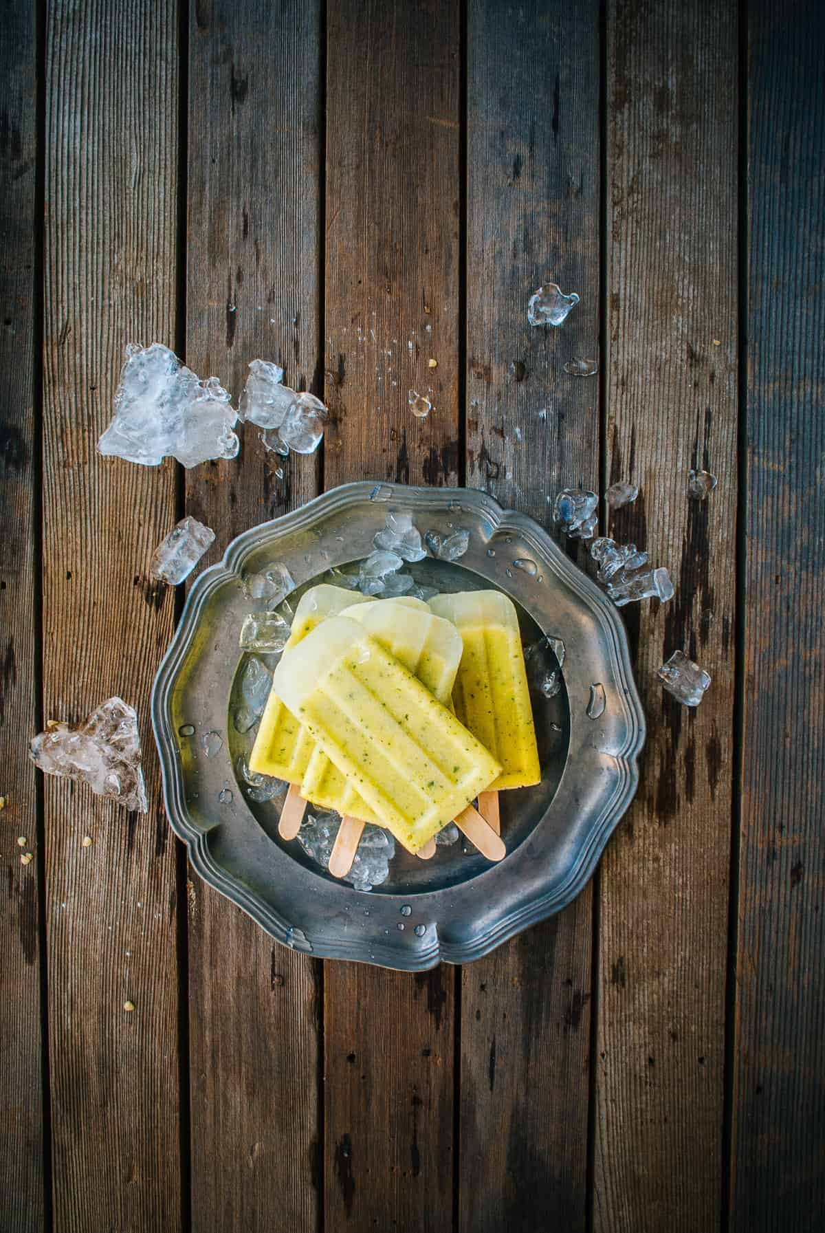 pineapple margarita ice pops