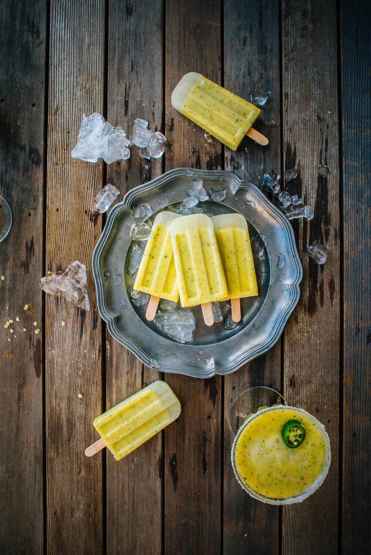 Pineapple Margarita Ice Pops - Souvlaki For The Soul