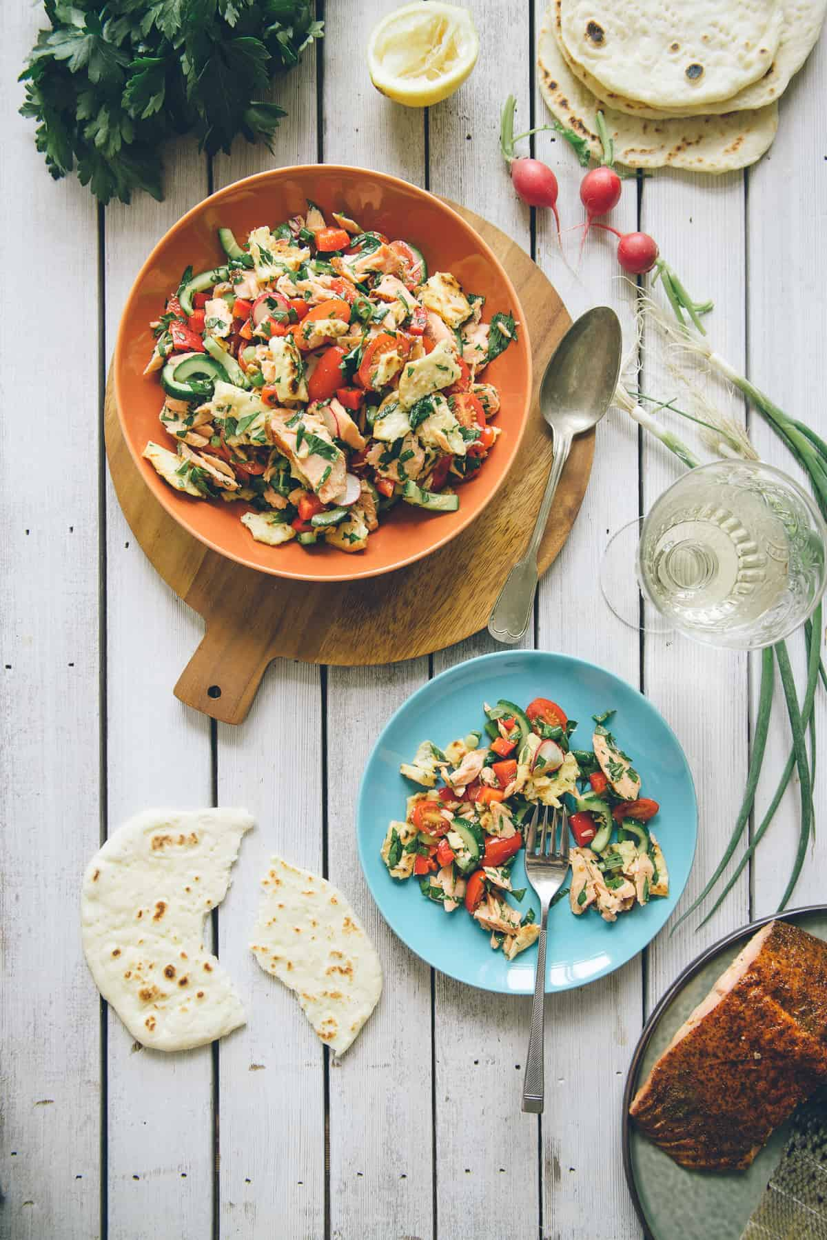salmon fattoush recipe