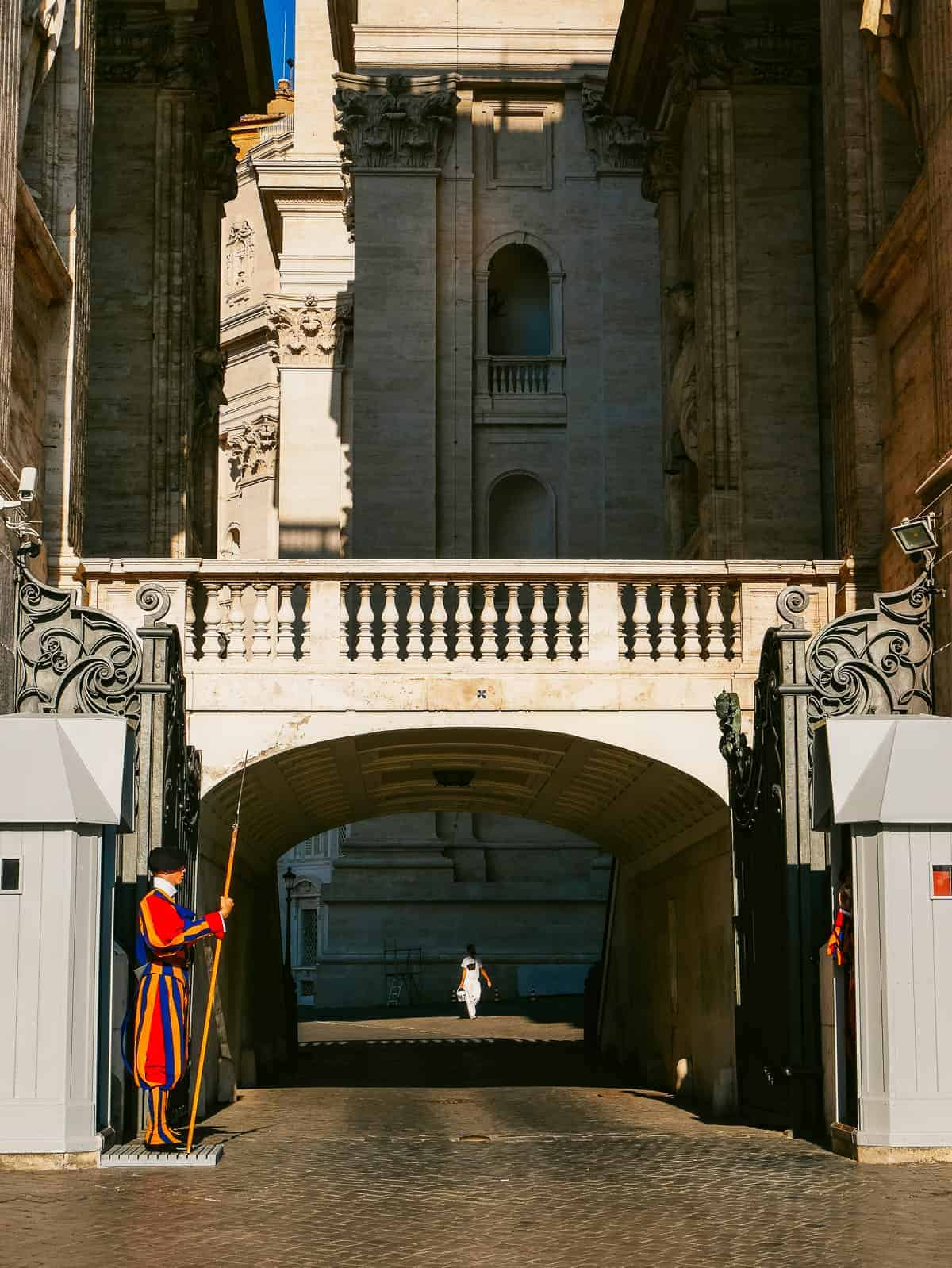 entrance to the Vatican guarded by the Swiss Guards