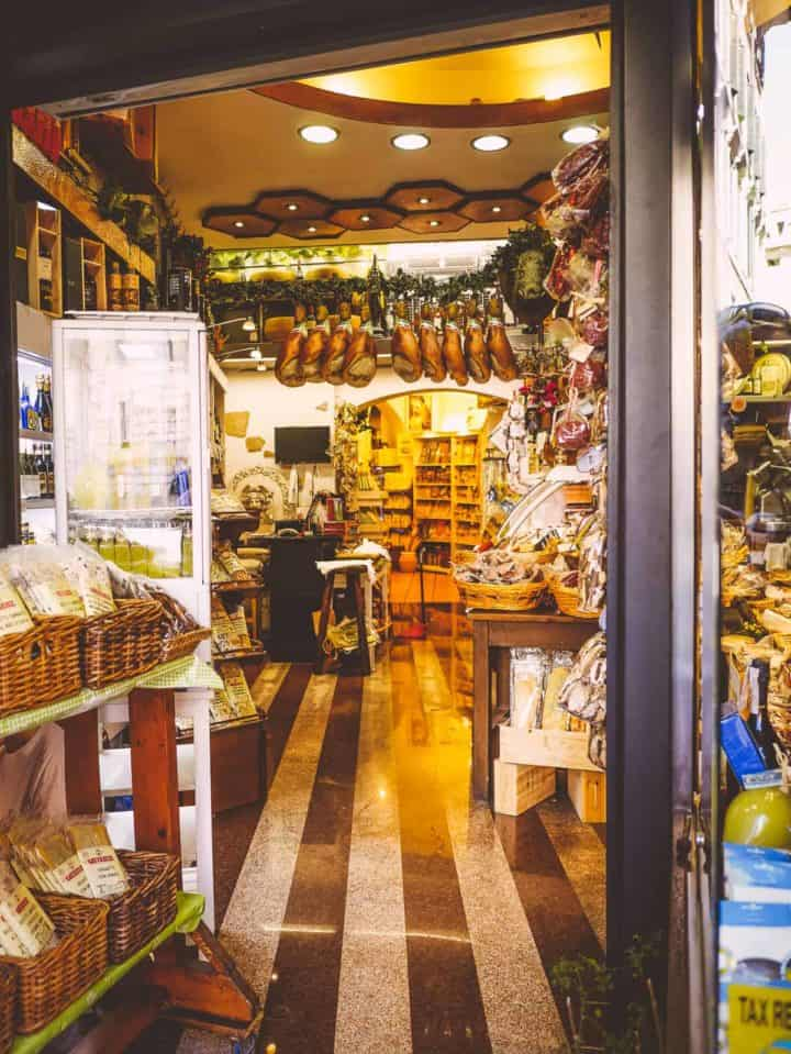 small goods shop - exploring Rome Italy