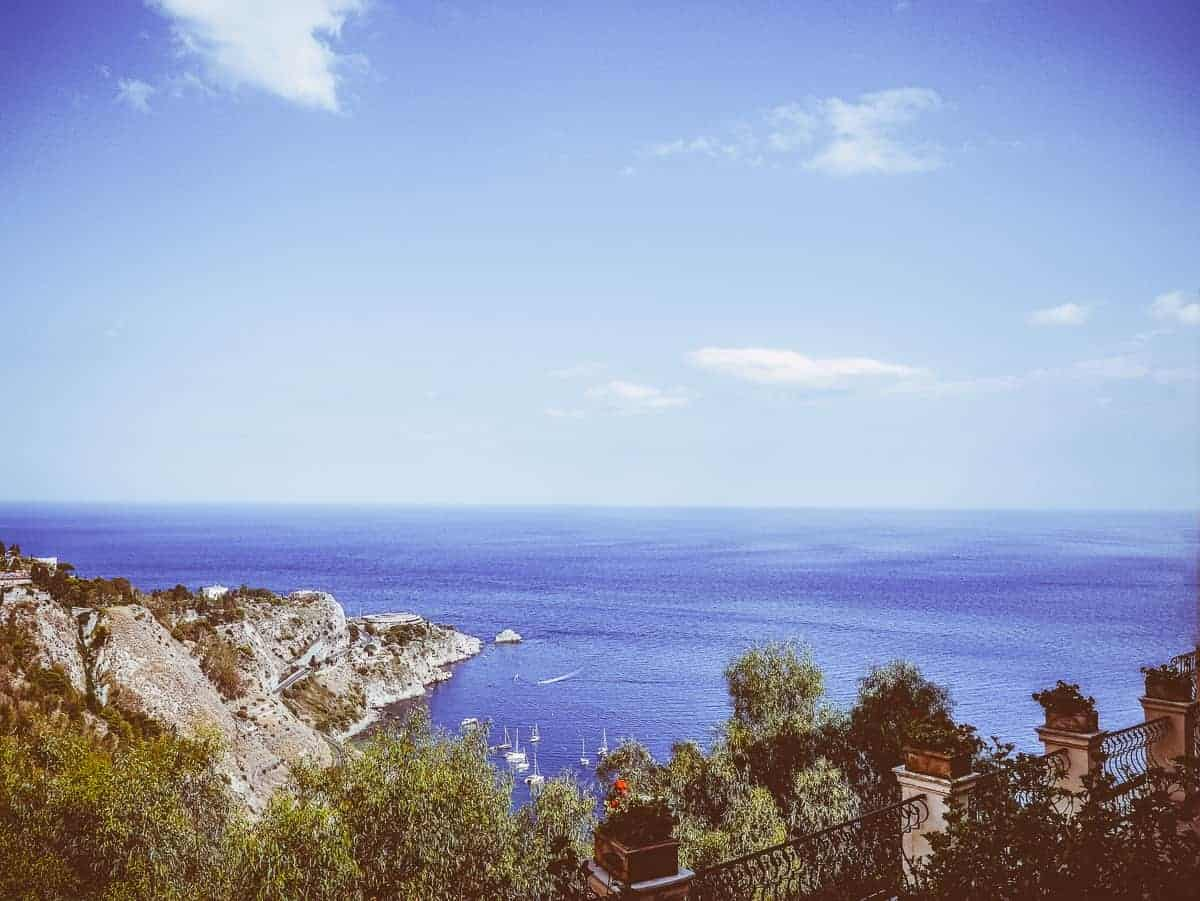view form San Domenico hotel Taormina Sicily