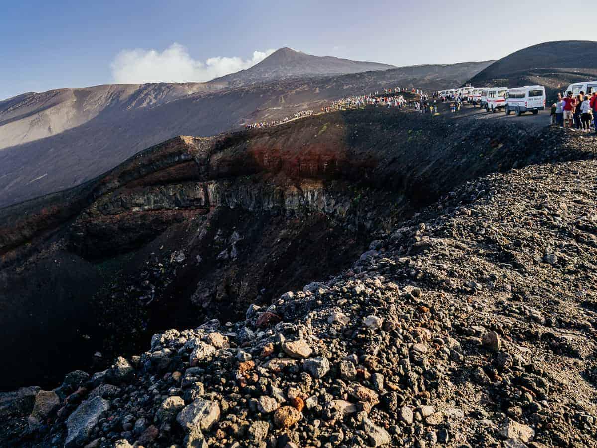 Mount Tena crater Sicily
