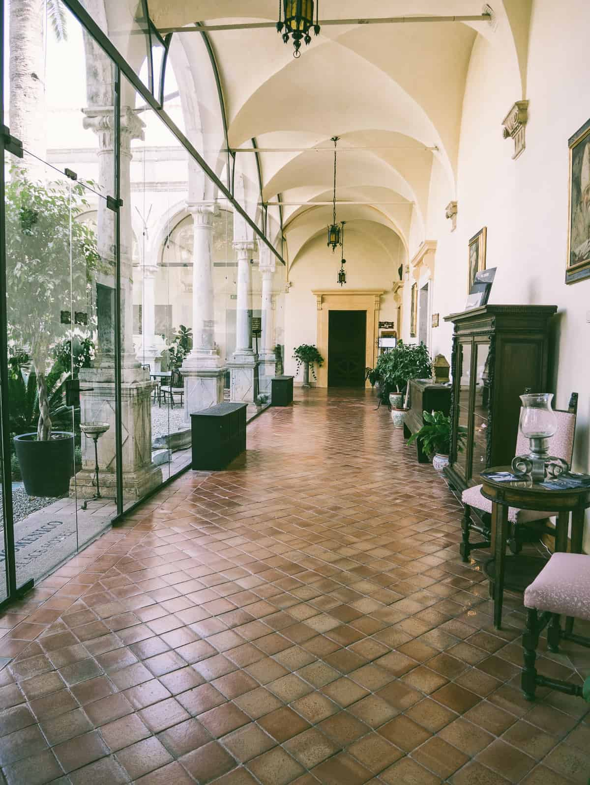 the corridors of San Domenico Palace Hotel