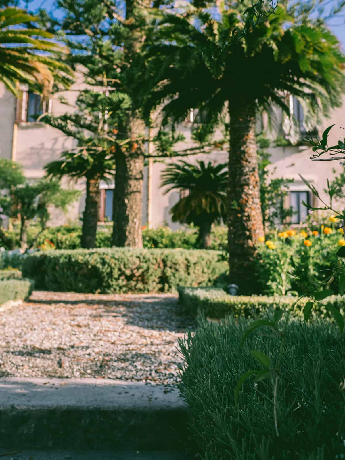 the gardens and grounds of the San Domenico Palace Hotel Taormina Sicily