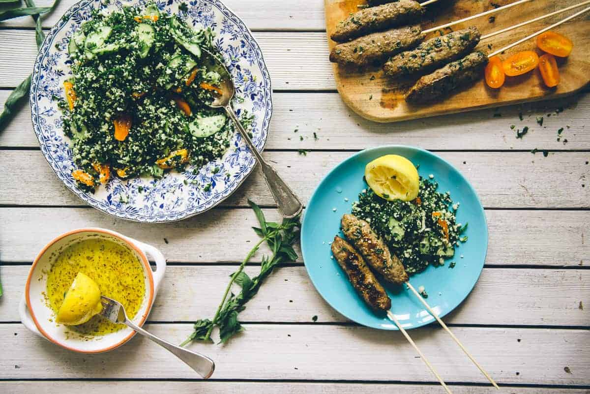beef kofta with grain free tabouli recipe