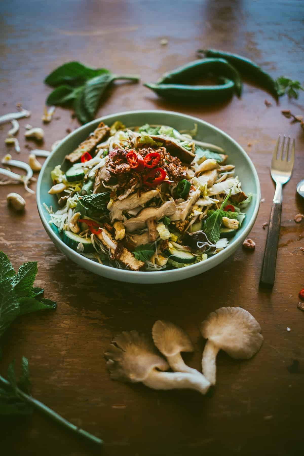Asian mushroom salad