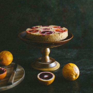 a cake on a cake stand