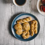 a plate filled with cookies